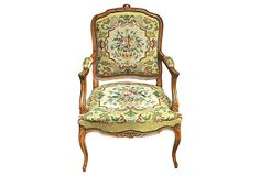 19th-C.  French Needlepoint Fauteuil  -  ($2,449.00)  $1,095.00  -  OneKingsLane.com