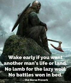 Laziness leads to nothingness...#viking  #norse https://www.musclesaurus.com