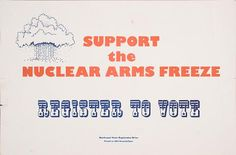 Support the Nuclear Arms Freeze: Register to Vote (no date)