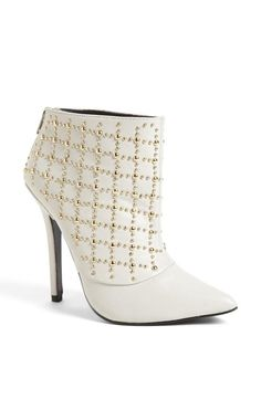 White Studded Boot <3
