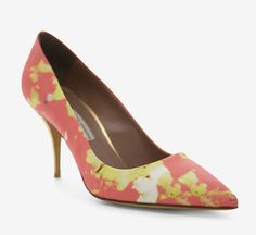 Tabitha Simmons Pink, Yellow And Multicolor Pump