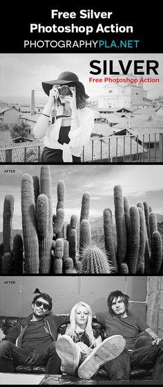 Free Photoshop Action - Silver. A black & white action for Photoshop and Photoshop Elements