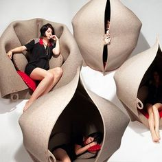 now thats a fun place to sit around the hush soft chair