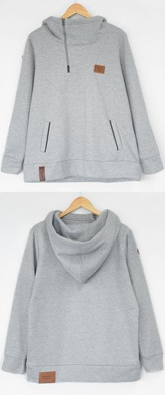 Check it, $27.99 now! 7-Day Shipping Time! Go wherever the wind takes you in the Hooded Casual Sweatshirt. Don't get lost in the crowd wearing the one. Make you stylish with something new. Save more for fall at Cupshe.com !