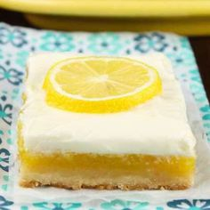 Lemon Bars with Cream Cheese Icing will be the most requested dessert for all of. - Lemon Bars with Cream Cheese Icing will be the most requested dessert for all of your get togethers - Healthy Cream Cheese, Lemon Cream Cheese Bars, Cream Cheese Desserts, Cream Cheese Recipes, Lemon Bars, Lemon Cheesecake Bars, Cream Cheeses, Lemon Dessert Recipes, Köstliche Desserts