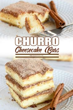 CHURRO CHEESECAKE BARS   Churro Cheesecake Bar. . . There is crispy cinnamon and filled with melted cheese, adding to the taste of this dessert the more delicious. This food is a combination of the two recipes that are suitable for dessert. #recipes #dessert #cheesecake
