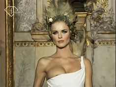 "udali: "" Eva Herzigova at Givenchy Spring/Summer 1997 by Alexander McQueen. Flashing Gif, Eva Herzigova, Bored At Work, Beautiful Gif, Sexy Gif, Beauty Women, Things That Bounce, Fashion Photography, Spring Summer"