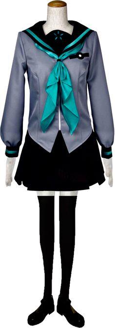 Anime Another Misaki Mei School Uniform Dress Cosplay Costume Coat+Skirt+Weskit