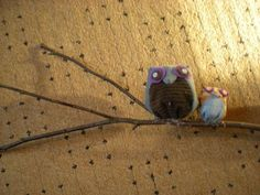 owls on a stick