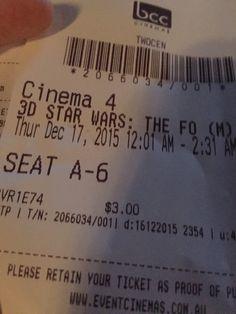 Seeing Star Wars the Force Awakens