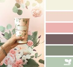 ideas for bedroom green paint design seeds Green Color Schemes, Bedroom Color Schemes, Bedroom Paint Colors, Colour Combinations Interior, Pastel Colour Palette, Colour Pallette, Vintage Colour Palette, Pink Palette, Pastel Colours
