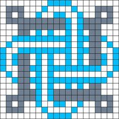 Celtic Knot 3 Perler Bead Pattern / Bead Sprite