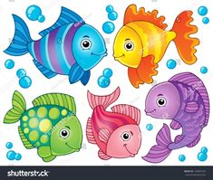 Fish theme image 4 - eps10 vector illustration.