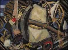 Arthur Lismer - Maritime Still Life Nova Scotia 12 x 16 Oil on board Canadian Painters, Canadian Artists, David Milne, Franklin Carmichael, Group Of Seven Paintings, Tom Thomson Paintings, Dazzle Camouflage, Emily Carr, Photo Engraving
