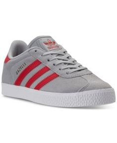 adidas Little Boys' Gazelle Casual Sneakers from Finish Line - Silver 1.5