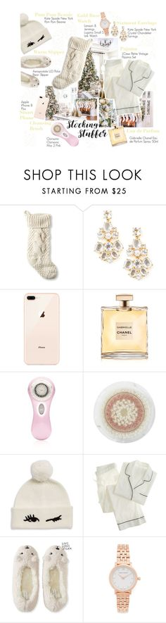 """Here are my Favourites Stocking Stuffers"" by newyorkismysoul ❤ liked on Polyvore featuring L.L.Bean, Kate Spade, Clarisonic, J.Crew, Aéropostale and Larsson & Jennings"