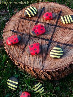 10 dicas de brincadeiras para fazer no quintal - jogo da velha