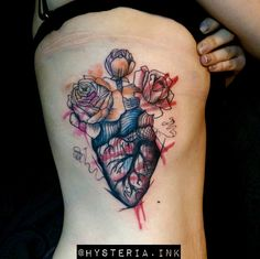 Graphic heart tattoo