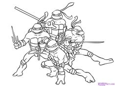 Welcome to Ninja Turtle Coloring Pages Many of you would remember