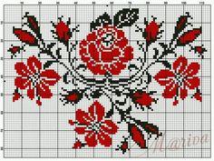 Gráficos de Flores em Ponto Cruz.