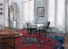 David Lloyd - Artblog: Interior with Wine Bottle