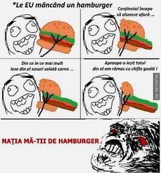 Eu mâncând un hamburger (ți s-a întâmplat sigur și ție asta!  Link Postare ➡ http://9gaguri.ro/media/eu-mancand-un-hamburger-ti-s-a-intamplat-sigur-si-tie-asta