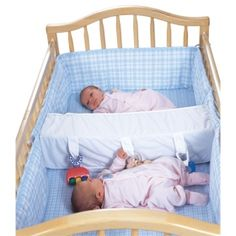 Crib spacer for twin no more boots to the head