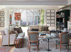 Três salas cheias de personalidade: clássica, romântica e moderna - Casa