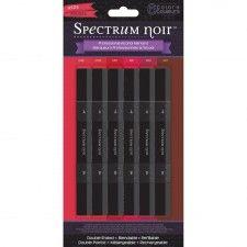 Spectrum Noir Sparkle Markers 6 Piece Set-Reds