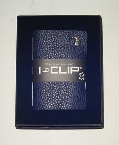 I-CLIP WALLET CREDIT CARD HOLDER NIB BLACK MADE IN GERMANY #ICLIP