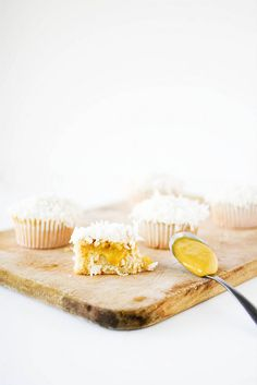 Coconut & Mango Curd Cupcakes