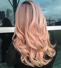 Blush Rose Blonde Hair