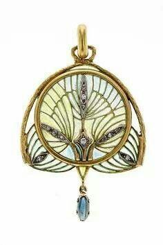 Art Nouveau Pendant by Lluis Masriera ca.1915-1920