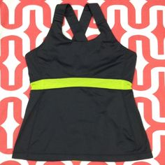 Lululemon Swift tank Charcoal/Antidote. Excellent preloved condition. A x-training tank that works for all recreations. Luxtreme plus High Lycra ® content for max hold and performance. Crossover back for max breathability. Does not include inserts. No trades. No PayPal. lululemon athletica Tops Tank Tops