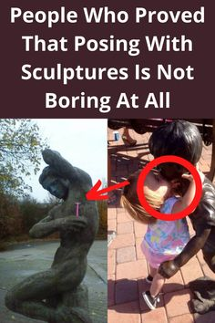 Like most of us, you probably have some poses that you repeat quite often when taking a picture next to a sculpture. So, if you want to get some inspiration and stand out in a crowd of photos, we urge you to have a look at these super cool photos of people who did not go with conventional poses and took posing with sculptures to another level.