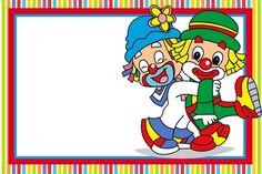 Seja Bem vindo a meu aniversario! Clown Party, Circus Party, Thankful Tree, Library Themes, Blog Layout, Borders And Frames, Baby Party, Mardi Gras, Smurfs