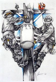 TNT: Gifts for Linemen - Journeyman Lineman Lineman Love, Lineman Gifts, Power Lineman, Custom Canvas, Custom Art, Lineman Tattoo, Electrical Lineman, Journeyman Lineman, Wall Art Prints