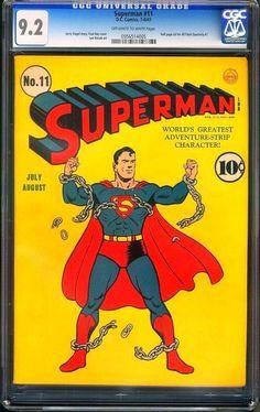 #SportsMemorabilia.com - #SportsMemorabilia.com Superman #11 Cgc 9.2 (1941) Oww Highest Cgc Graded ! Cgc #0956514005 - AdoreWe.com