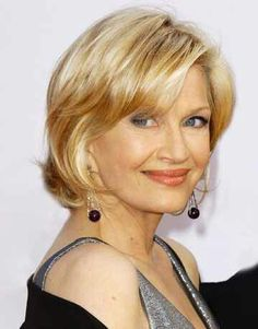 Diane Sawyer shows that you can have a great shade of blonde at any age. Keep it cool, but not ashy, and the lowlights look completely natural. Diane Sawyer, Hair Color Shades, Cool Hair Color, Mother Of The Bride Hair, Blonde Moments, Mom Hairstyles, Hairstyles Pictures, Luscious Hair, Great Hair
