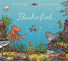 Flunkerfisch: Vierfarbiges Pappbilderbuch von Axel Scheffler http://www.amazon.de/dp/3407794991/ref=cm_sw_r_pi_dp_MvtNwb0N25YD9