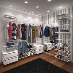 Closet aramado feminino/masculino da linha Dicarlo.