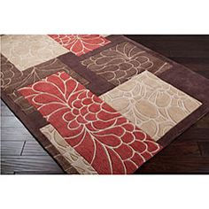 @Overstock - This beautiful rug features a beautiful floral pattern with durable polyester construction. This rug features a brown background with highlights of beige, tan and red.http://www.overstock.com/Home-Garden/Hand-tufted-Brown-Floral-Rug-8-x-11/5509831/product.html?CID=214117 $307.49