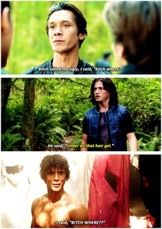 Bellamy Blake and Finn Collins Cw Series, Series Movies, Movies And Tv Shows, The 100 Cast, The 100 Show, Bellarke, Best Tv Shows, Best Shows Ever, Hunger Games