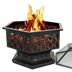SPECIFICATIONS: Product Dimensions: 24'(L) x 24'(W) x 25'(H) Lid Dimensions: 21.25'(L) x 21.25'(W) x 9'(H) Fire Pit Base Dimensions: 18.5' Diameter x 7.5'(H) Bowl Dimensions: 24' Diameter x 8.5'(H) P...