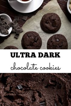 These ultra dark chocolate cookies are packed with dark chocolate flavor