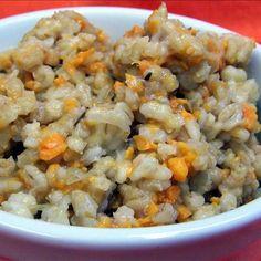 Sweet Potato Barley Risotto in the Crock Pot Recipe