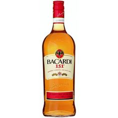 Then pull out the Bacardi 151 Rum. You might want to mix that with a bit of juice, frozen fruit or soda, though, because this is a powerful spirit that will burn all the way down. The sweet taste is on fire with an over-proofed alcohol content that will b Fruity Drinks, Alcoholic Drinks, Bacardi 151, Puerto Rico, Liquor Mart, Everclear, Bars And Clubs, Ron, Vodka Bottle