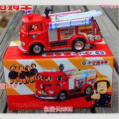 Gratis verzending BRANDWEERMAN SAM Speelgoed Vrachtwagen Brandweerwagen Auto Met Muziek + LED Jongen Speelgoed Educatief Speelgoed