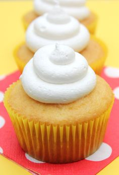 Twinkie Cupcakes! The filling is spot on and is incredibly easy and pipes really well.