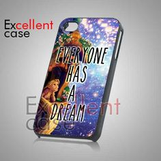 Everyone Has A Dream Disney Tangled Quote - iPhone 4/4s/5 Case - Samsung Galaxy S2/S3/S4 Case - Black or White on Etsy, $15.25